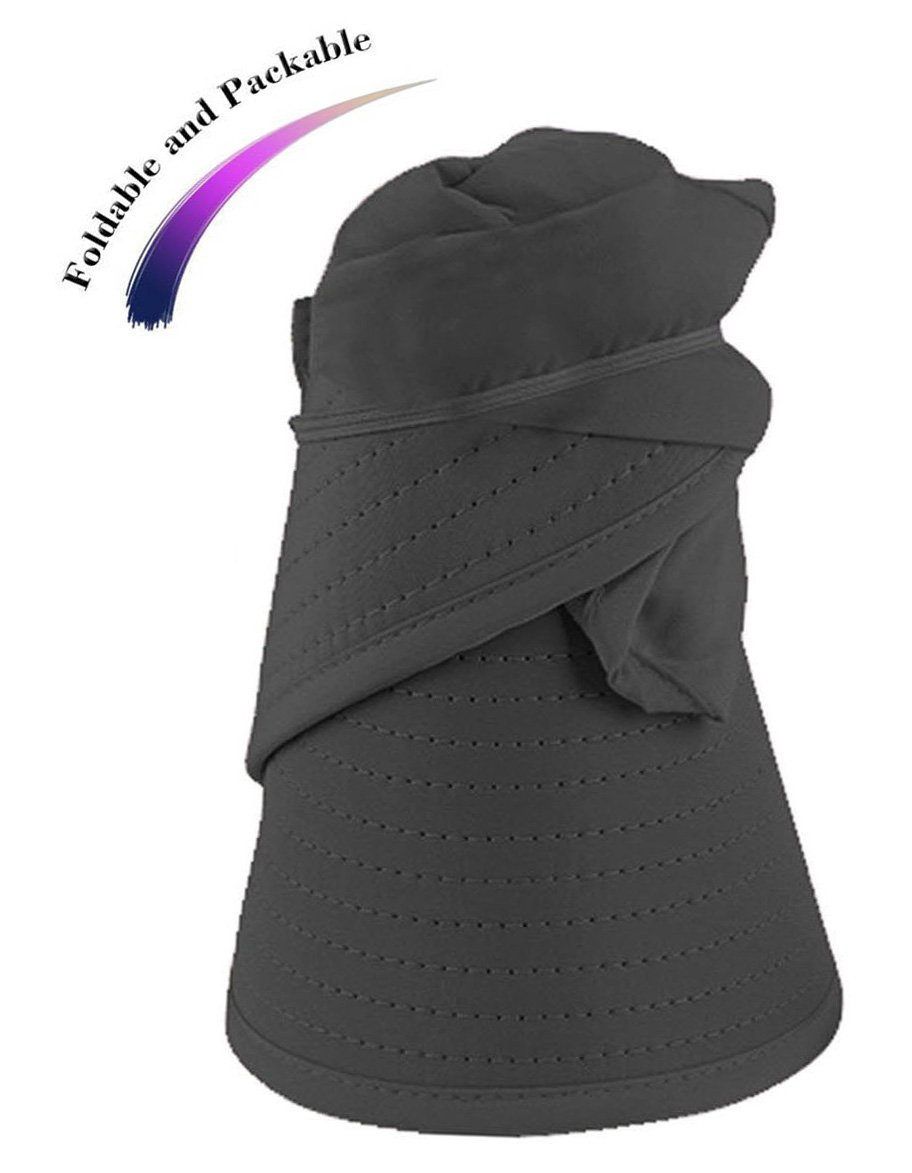 HindaWi Sun Hats for Women Wide Brim UV Protection Visor Hat Floppy Beach Hiking Packable Cap by HindaWi (Image #6)