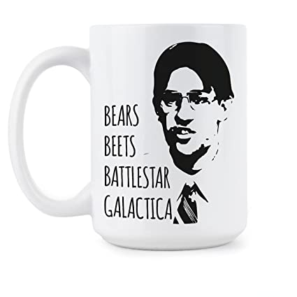 Office coffee mugs Takeaway Coffee Image Unavailable Amazoncom Amazoncom Bears Beets Battlestar Galactica Mug Office Coffee Mugs