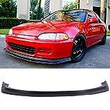 94 honda civic lip - Front Bumper Lip Fits 1992-1995 Honda Civic | Black PU Front Lip Finisher Under Chin Spoiler Add On by IKON MOTORSPORTS | 1993 1994