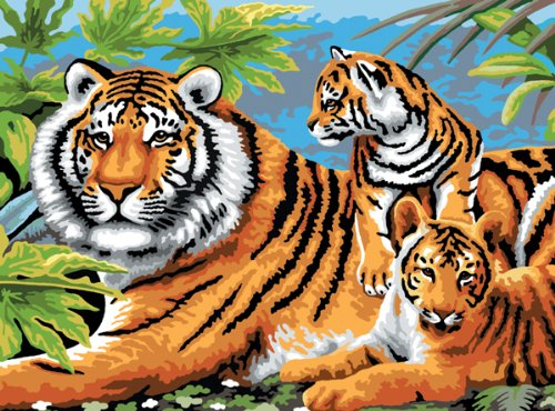Royal & Langnickel Painting by Numbers Junior Large Art Activity Kit,Tiger and - Juniors Tiger