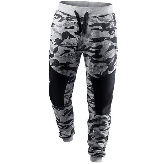 fbb35466e96 Photno Men s Sweatpants Elastic Bottom Sports Joggers Camouflage Drawstring  Pants Trousers (M