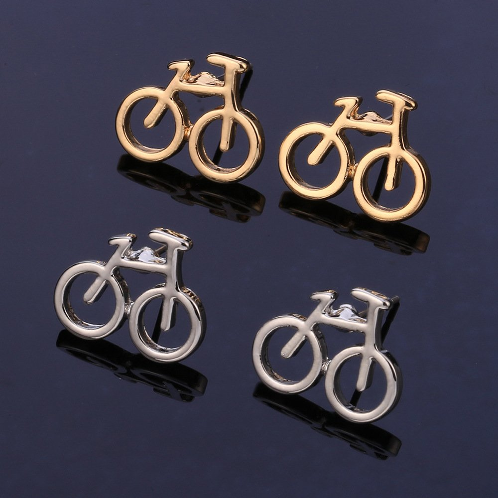 1 Pairs Jewelry Making Antique Silver Tone Earring Supplies Hooks Findings Charms S7HF1 Bicycle Bike