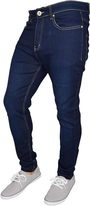 WestAce Pantalones vaqueros ajustados para hombre, superelásticos ...