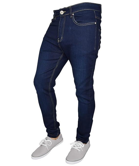 westAce Pantalones Vaqueros de algodón para Hombre Skinny Jeans Super Stretch Slim Fit Spandex