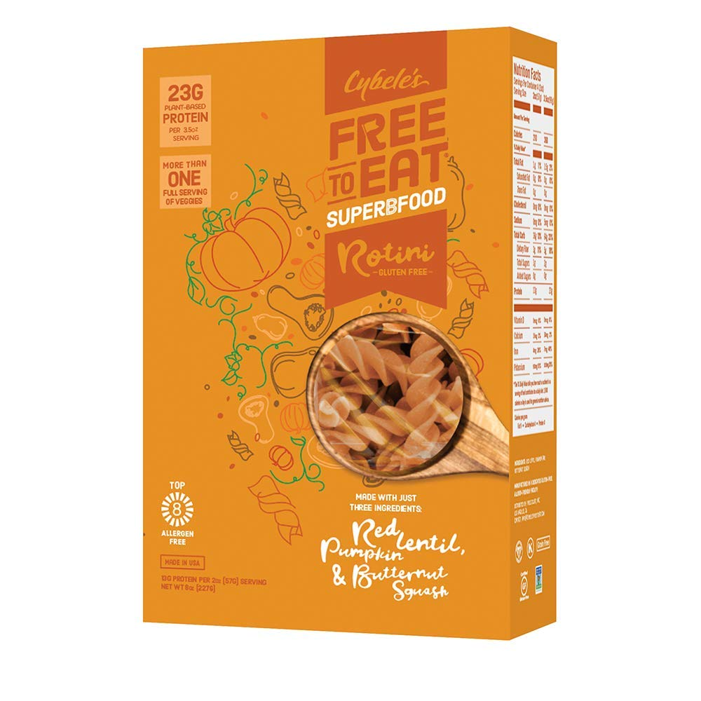 Cybele's Free to Eat Superfood Veggie Pasta - Superfood Orange, Rotini - 8 Oz Box (Pack Of 1)