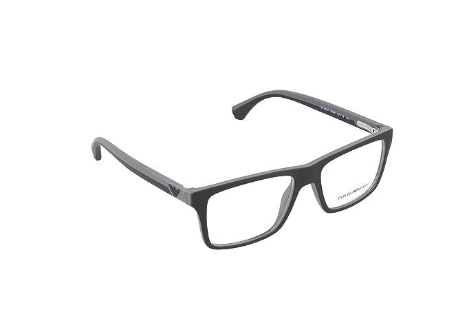 Amazon.com  Emporio Armani EA 3034 Men s Eyeglasses Black Rubber ... e5e1dd6b4875