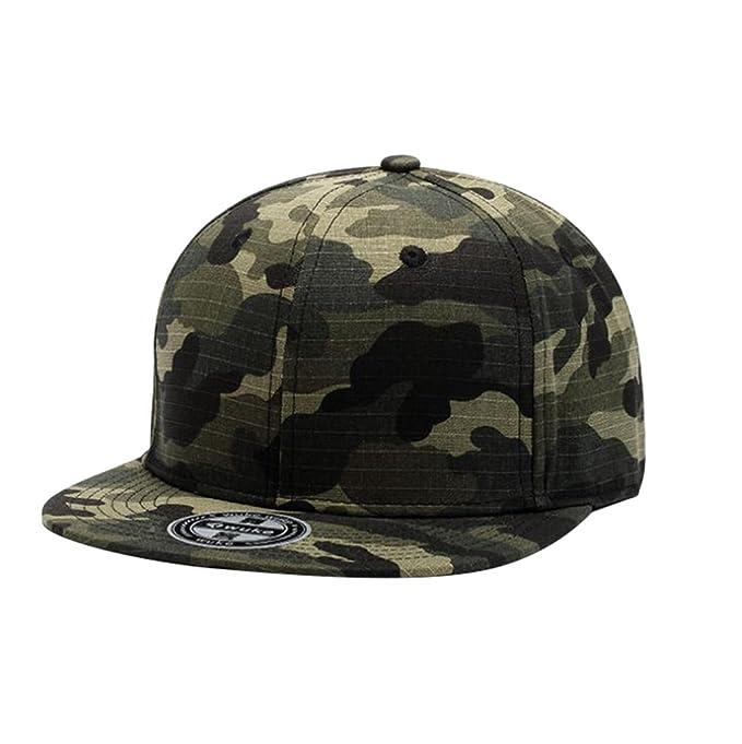 c8f4cf7e790d5 Aivtalk - Gorra de Béisbol Unisex Camuflaje Hip Hop Snapback Sombrero Plano  Dance Hat Moda Accesorio