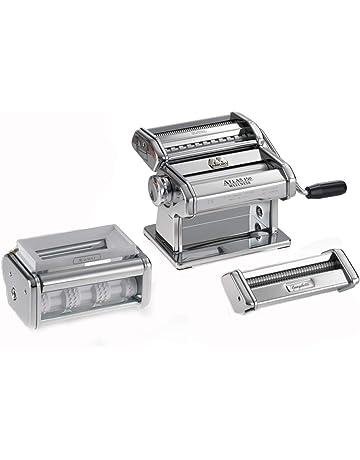 Marcato PastaSet Máquina para Pasta Manual con Accesorios Incluido, Acero Cromado, Plata, 20