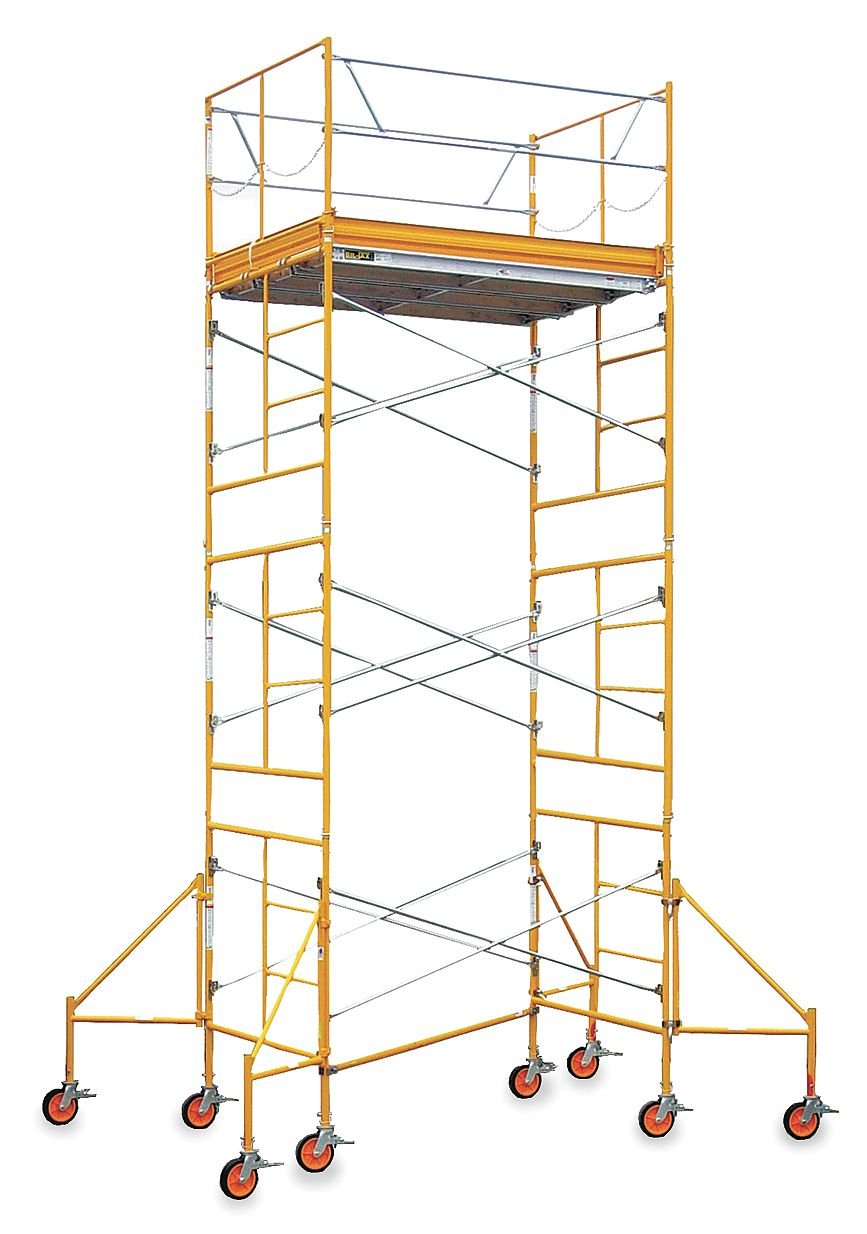 Bil-Jax - ST-RU0716OR - Scaffold Tower, Steel, Plastic, 2 to 16 ft. Platform Height, 22 ft. Overall Height