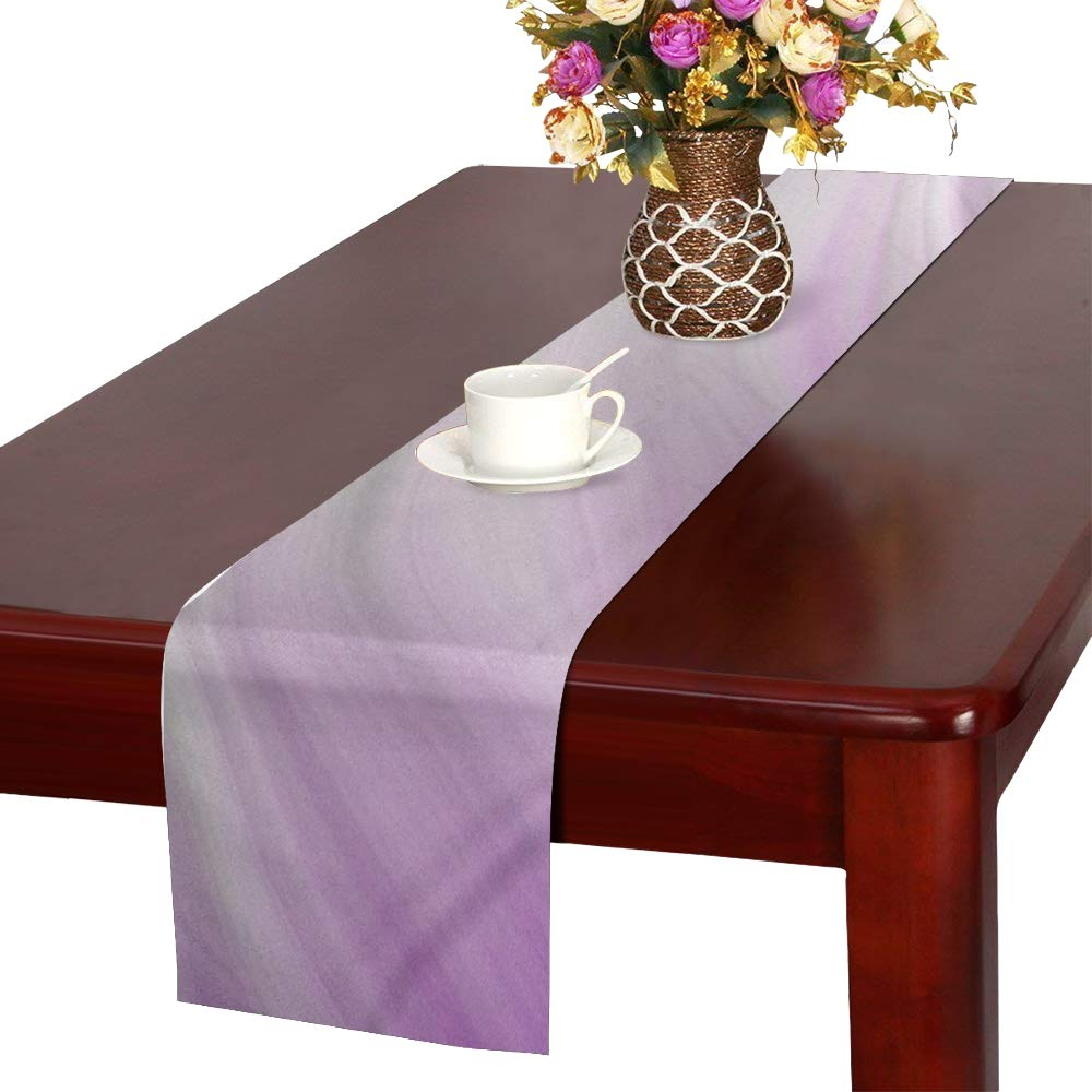 Jnseff Wave Form Texture Pattern Color Table Runner, Kitchen Dining Table Runner 16 X 72 Inch For Dinner Parties, Events, Decor