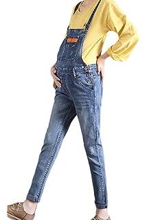 af498345f017 Simgahuva Womens Maternity Denim Overalls Adjustable Jumpsuit Fit Belly  Pants