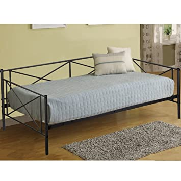 sneakers for cheap 3424d 9c6fb Daybed Metal Daybed Frame Twin with Steel Slats Bed Frame Box Spring  Replacement,Mattress not Include