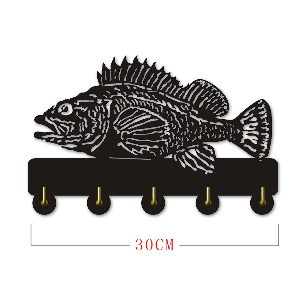 Rock Fish Shape Design Sea Animals Creative Wall Decor Art Wall Hooks Clothes Coat Towel Hooks Keys Holder Bathroom Kitchen Hanger Decor Hooks by The Geeky Days (Image #9)