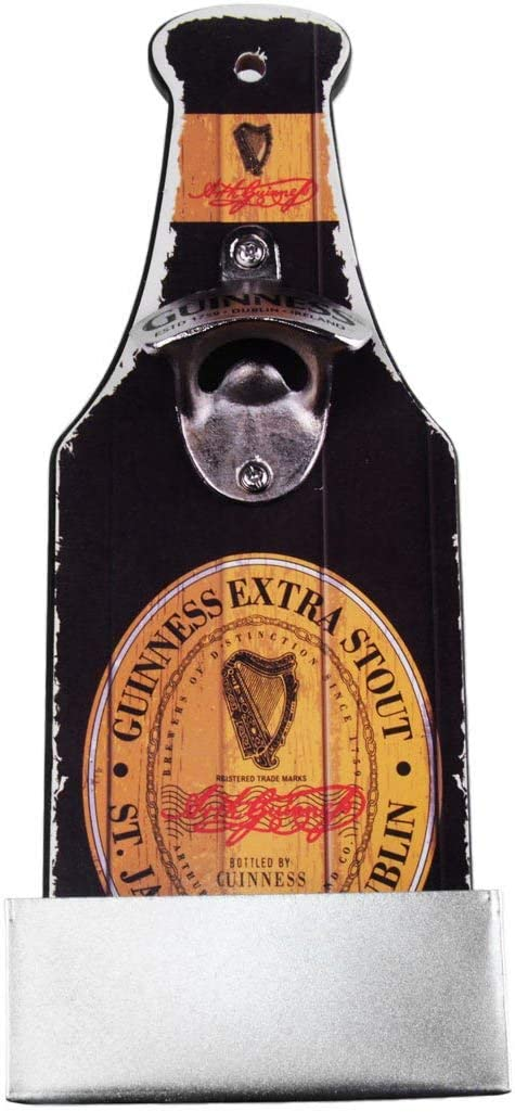 Guinness Nostalgic Mounted Bottle Opener and Cap Catcher - Label [並行輸入品]
