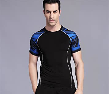 LUCKY-U Camiseta De Compresión, Camiseta De Ciclismo Material Suave De Secado Rápido Camiseta