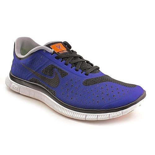 c932a498c0b nike free 4.0 v2 black hyper blue Knicks Light running runner men shoes (11)