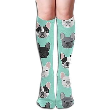 BullDog francés, perro cachorro cachorros perro 50 Full diseño de alta calcetines para hombres deporte atlético calcetines: Amazon.es: Hogar