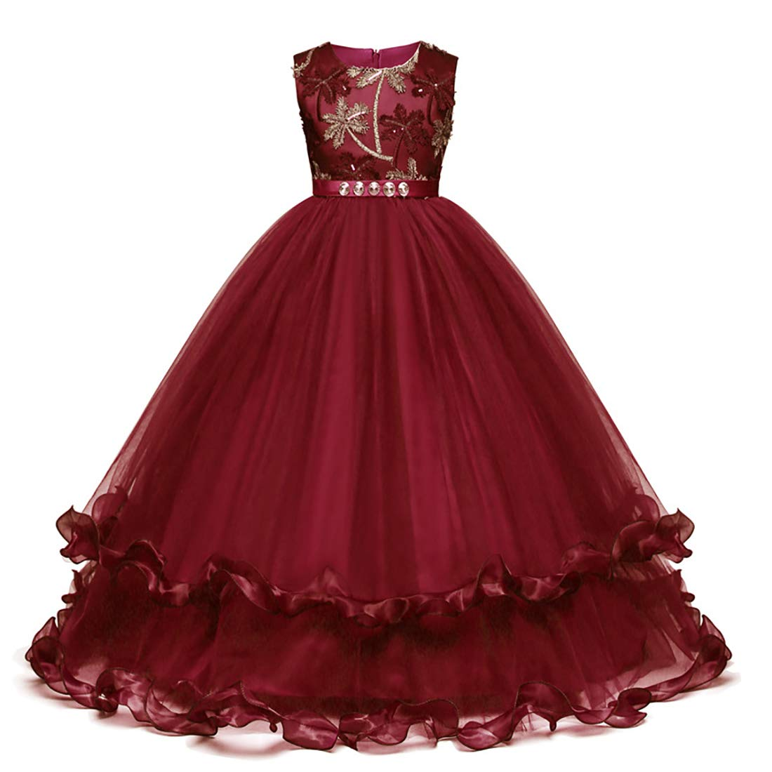 Fulision Girls Skirt Summer Sleeveles Princess Dress Party Show Tutu Fulision Co. Ltd
