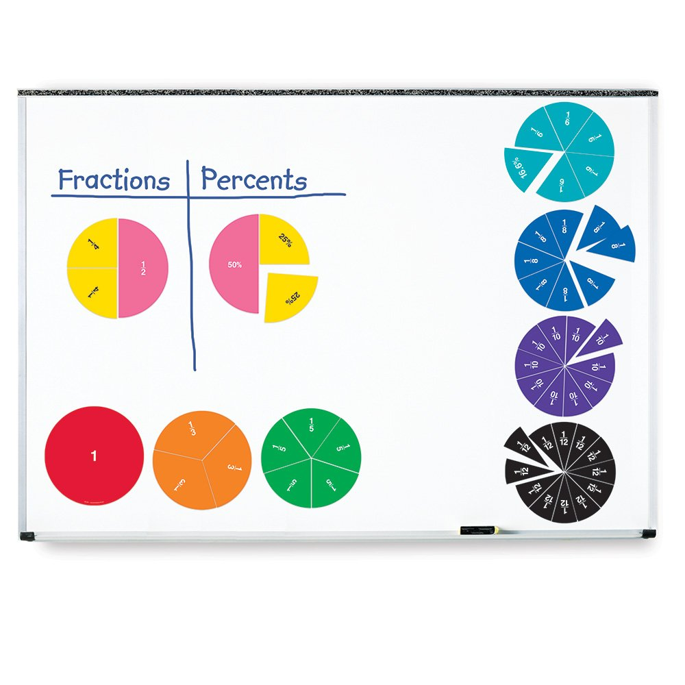 Learning Resources Double-Sided Magnetic Demonstration Rainbow Fraction Circles