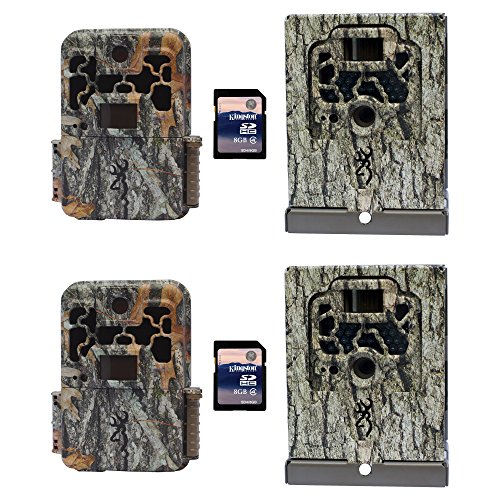 Browning Trail Cameras Spec Ops Platinum Game Cam, 2 + Security Boxes + SD Cards