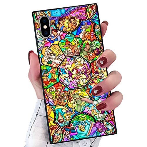 DISNEY COLLECTION Phone Case Compatible iPhone Xs Max Disney Family Elegant Chic Square Protective Shockproof Back Cover Case Compatible iPhone Xs Max 6.5 Inch