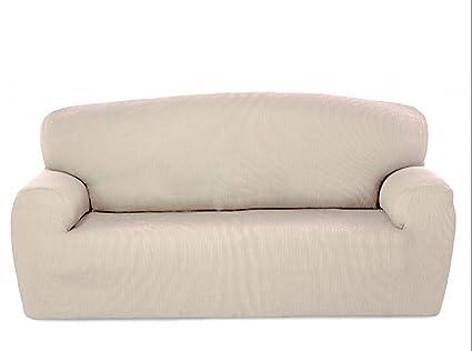 textil-home - Funda de Sofá Elástica Marian, 2 plazas - Desde 130 a 180cm. Color Marfil