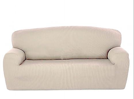 textil-home - Funda de Sofá Elástica Marian, 4 plazas - Desde 240 a 270cm. Color Marfil