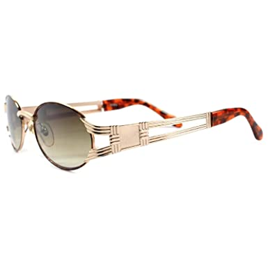 cacbbdcf7280c Image Unavailable. Image not available for. Color  Vintage Urban Hip Hop  Swag Fashion Gold Tortoise Oval Sunglasses