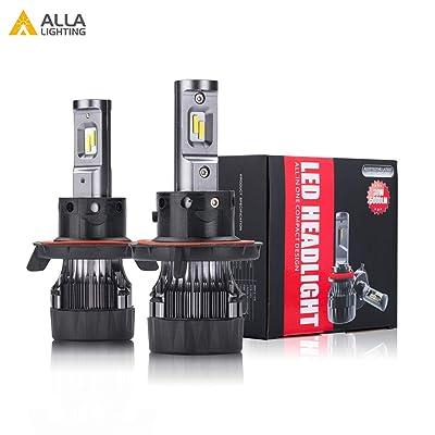 Alla Lighting 2pcs Super Bright LED Light Bulbs replacement for 2009~2014 Ford F150/2011~16 F250 F350 F450 F550/2011~17 F-250 F-350 F-450 F-550 Super Duty (H13 Hi/Lo Beam Headlight, White): Automotive