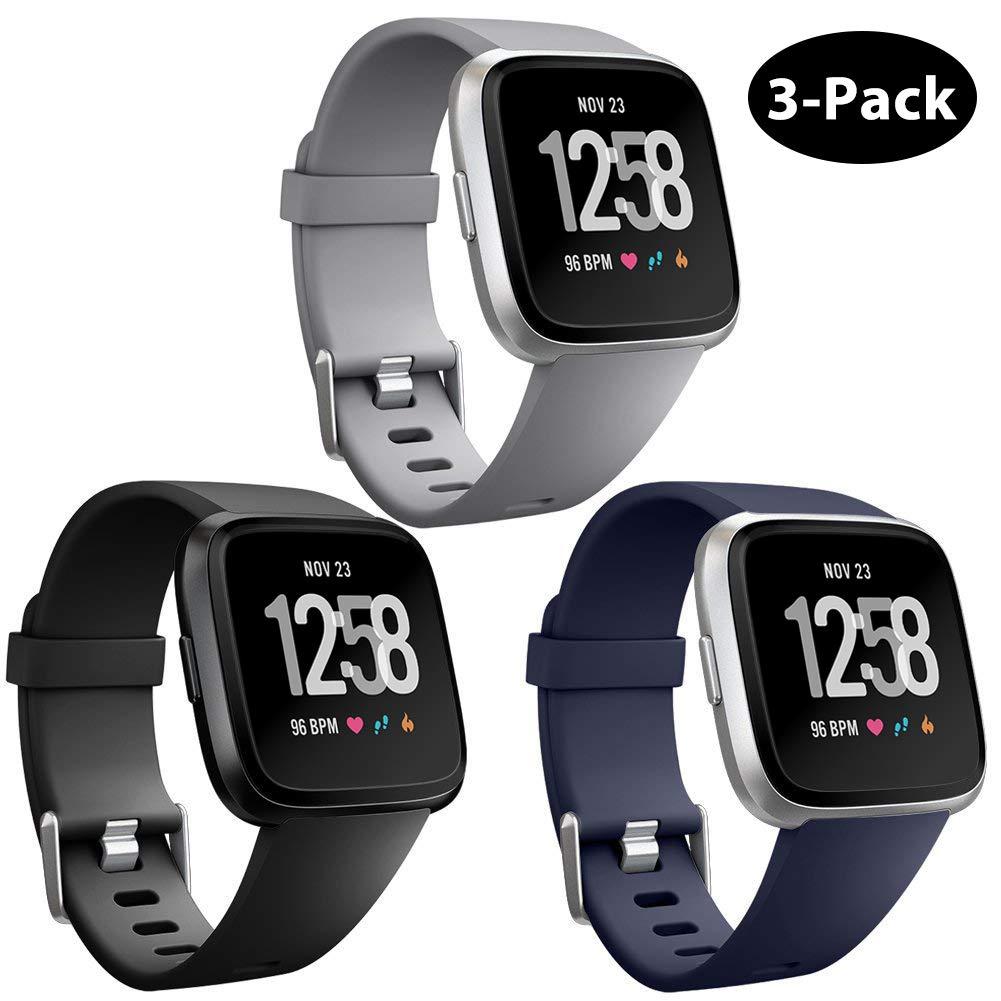 Mallas Reloj Fitbit Versa/Fitbit Versa Lite (3 Un.) Talle L