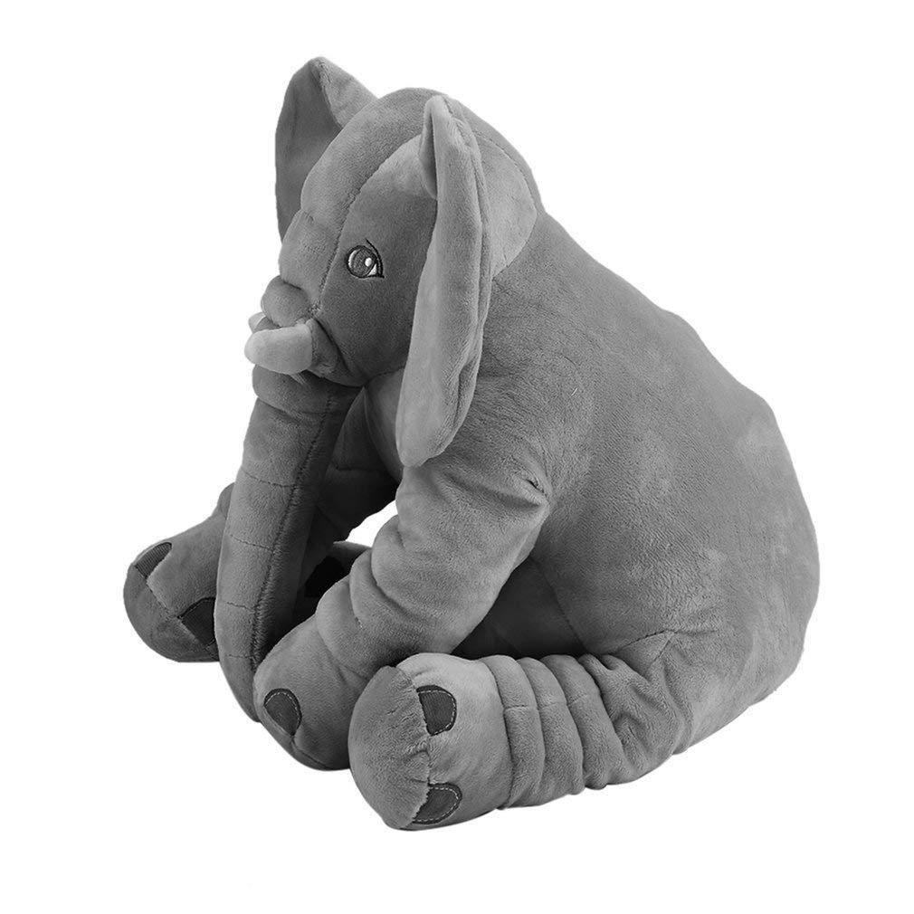 FairytaleMM Cuscino per Animali di Peluche per Bambini Cuscino per Bambini Che Dorme Morbido Giocattolo Elefante Carino per Bambole di Cotone ripiene e Peluche Morbido, Rosa, 28x33 cm