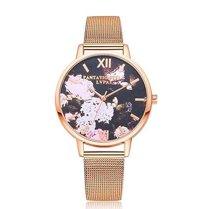 Dilwe Relojes de Cuarzo para Mujer, 3 Colores, Reloj de Pulsera de Moda con