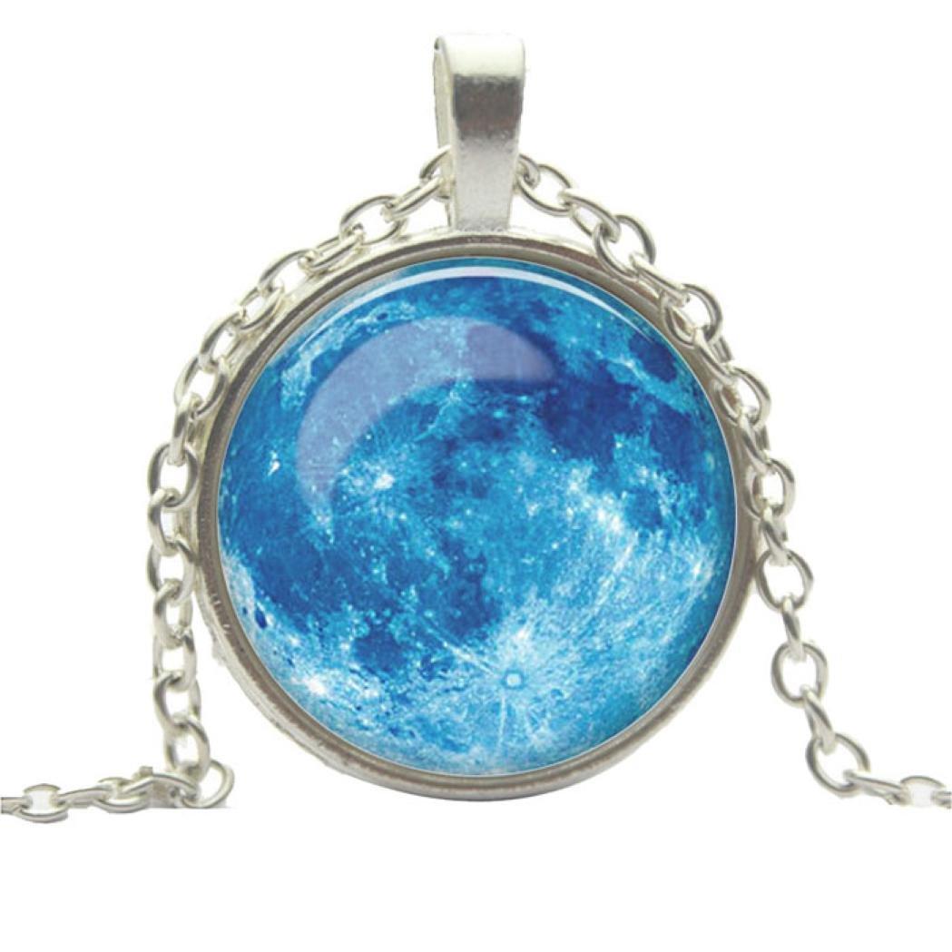 DDLBiz® Vollmond-Mond-Raum-Galaxie-Halsketten-Strickjacke-Kette AB-12