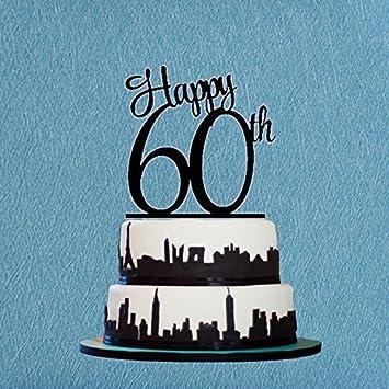 Happy 60th Birthday Cake TopperAnniversary TopperCustom Number Topper DAAC
