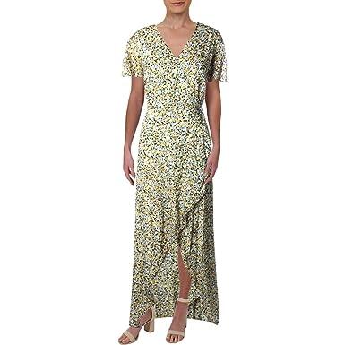 c45309ea6dce0 Juicy Couture Women's Ditsy Burnout Chiffon Maxi Dress Angel Classic Ditsy  Petite/X-Small