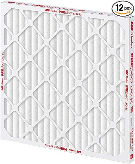 20 by 20 by 1 Flanders MERV 8 Pre-Pleat 40 LPD High-Capacity Air Filter 20X20X1 in 12 Per Case-2488742
