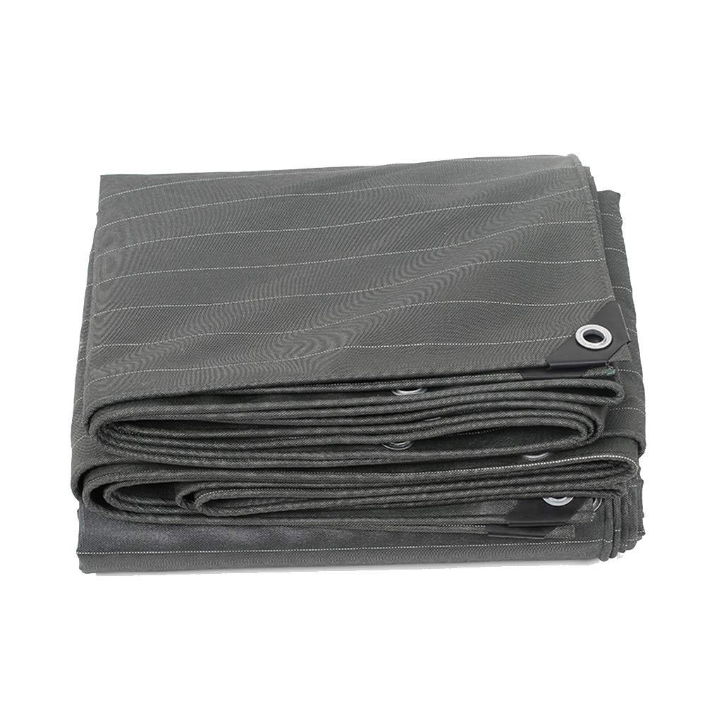 YNN - ターポリン 厚手キャンバス防水タポリン防水日焼け止めサンシェード3つのアンチクロス550g /m² - 厚さ0.5mm (色 : Gray, サイズ さいず : 6*7m) 6*7m Gray B07KPDCCQ9