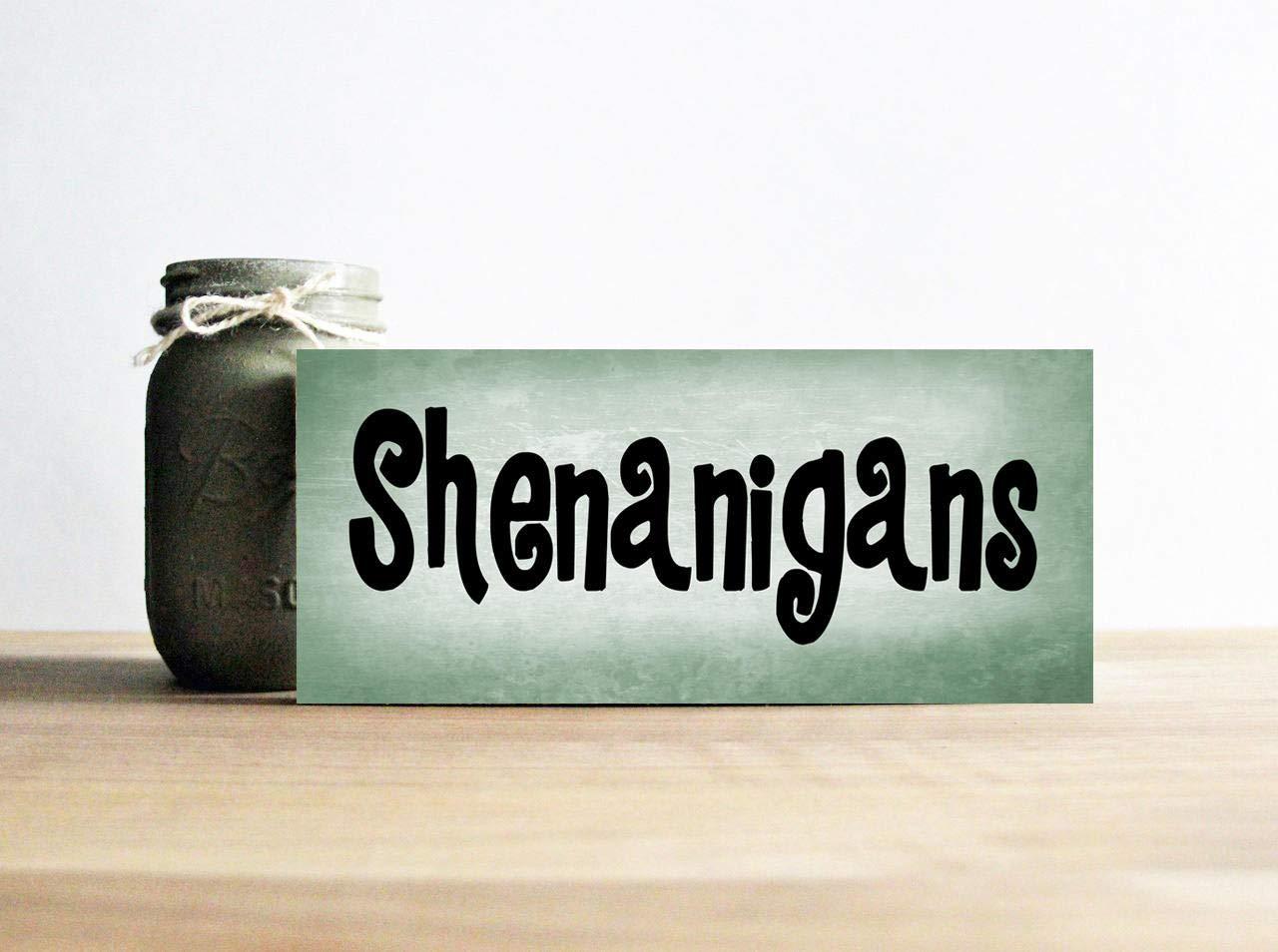 Amazoncom Emily Shenanigans Sign Funny Irish Sign St Patricks Day