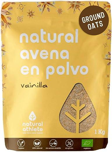 Harina de Avena Sin Gluten Natural Athlete, BIO Sin Azúcar, Sin ...