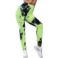 Voqeen Pantalones de Adelgazantes Mujer Leggins Reductores Adelgazantes Leggings Pantalones de yoga tie-dye…