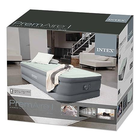 Intex 64902 - Colchón hinchable PremAire I, 99 x 191 x 46 cm: Amazon.es: Hogar