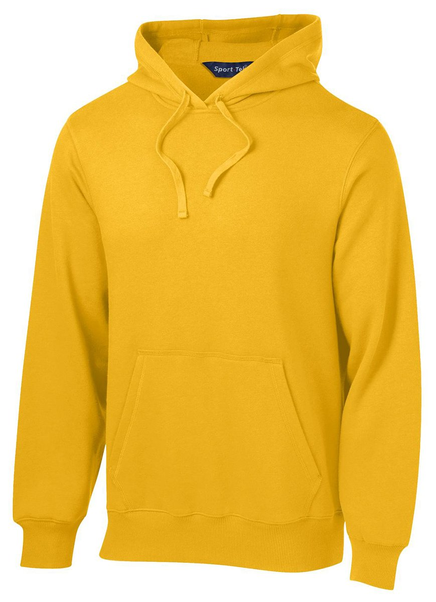 Sport-Tek Men's Pullover Hooded Sweatshirt 4XL Gold by Sport-Tek