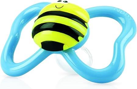 Nuby ID5880SFSM - Chupete oval de animalitos