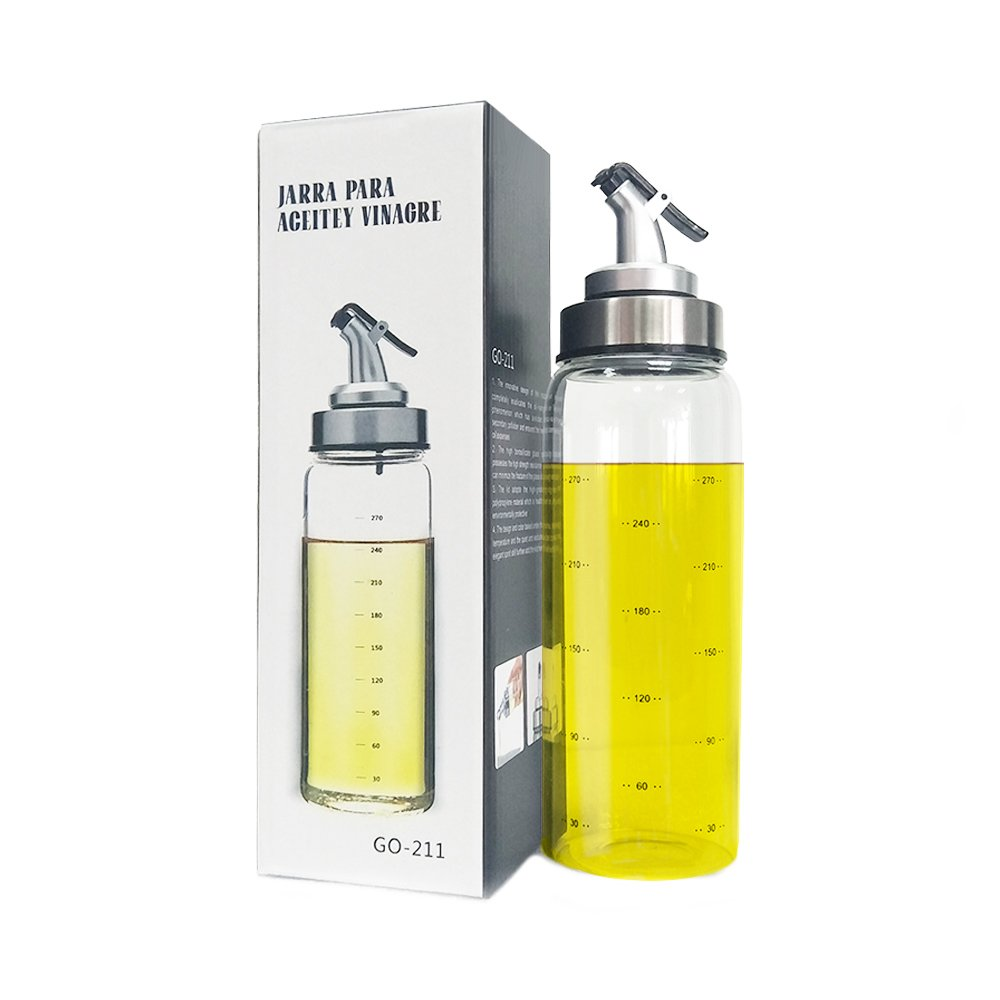 BANFANG Olive Oil Dispenser Bottle - 10 Oz Glass Oil Bottle Sauce Bottle,Oil Container Sturdy Tops, Lead-Free Glass Oil Dispenser 4336037911