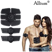 allium Mobile-Gym Ems Muscle Simulator Fat Burner Slimming Device - Black (6 Pack Set)