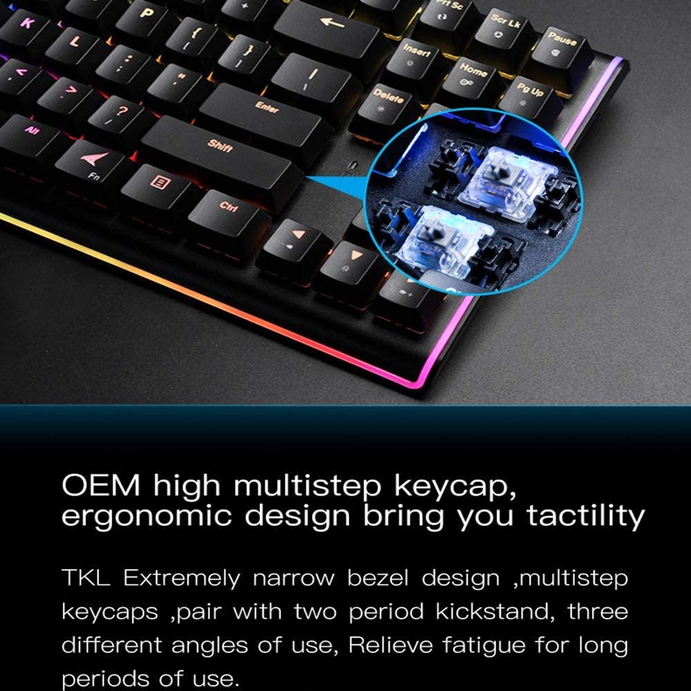 Extra Long Battery Life QOUP Wireless Keyboard, 2.4G Wireless Keyboard and Mouse with Hand Pillow and Computer PC Calculator