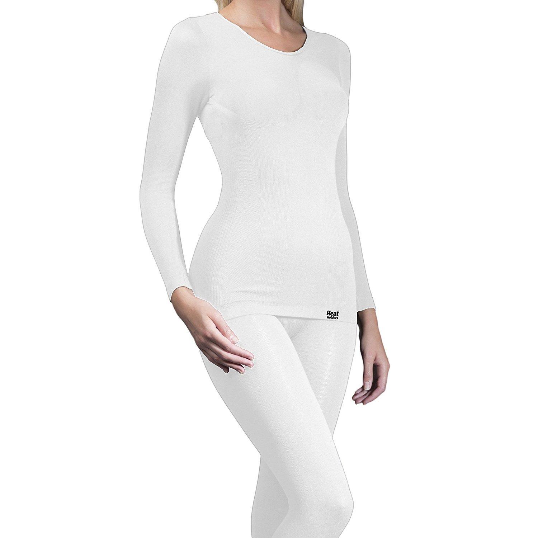 Heat Holders - Womens Long Sleeve Winter Warm Thermal Underwear Shirt / Top
