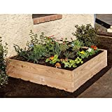 Expandable and Stackable 'Easy and Tool-Free' Raised Garden Bed, Natural Cedar (48'' X 48'')