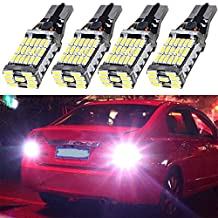 EverBright 4-Pack Extremely Bright 1200LUMS White 921 912 906 T15 W5W 4014 45-SMD LED Lights Bulb For Car Replacement Bulbs Backup Reverse Side Marker Light
