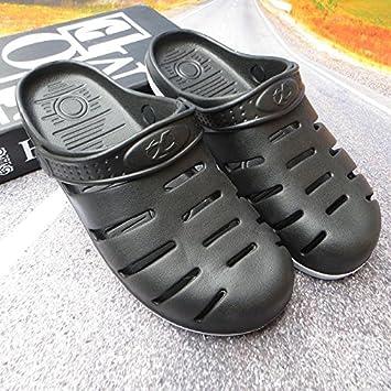 CWJDTXD Zapatillas de verano Zapatos de hombre zapatos de taco zapatos de playa Beiya cabeza grande sandalias baotou zapatillas ligeras cómodas sandalias ...